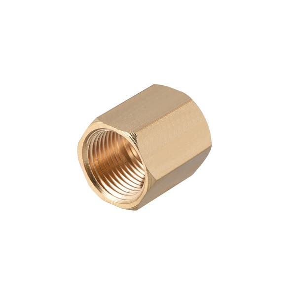 Keadic 6 Pieces Brass Pipe Fitting Set 3//8 inch NPT Pipe Plug Brass Pipe Fitting Internal Hex Thread Socket for Closing the End of Pipe