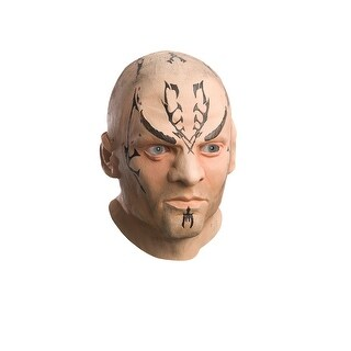 Star Trek Movie Nero Deluxe Latex Halloween Mask - Adult Size One Size - TAN