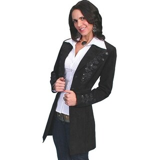 Scully Western Jacket Women Leather Mid-Thigh Length Fitted L231
