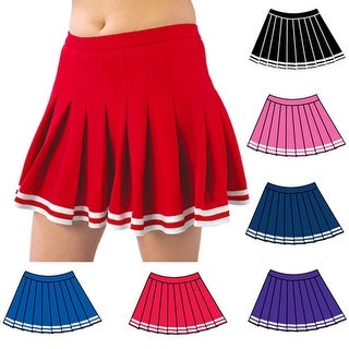 Pizzazz Multi Color Pleated Cheer Uniform Skirt Adult S-2XL