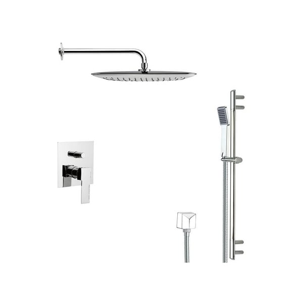 Nameeks SFR7056 Remer 2.5 GPM Multi Function Rain Shower with Handshower, Slide Bar and Rough In - Chrome