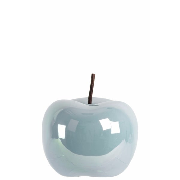 Amazingly Crafted Apple Figurine- Small- Blue- Benzara