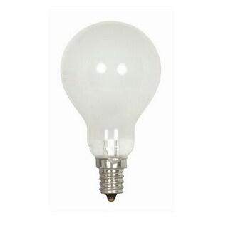 Satco S2741 Ceiling Fan Incandescent Light Bulb, 40 Watts, 120 Volt
