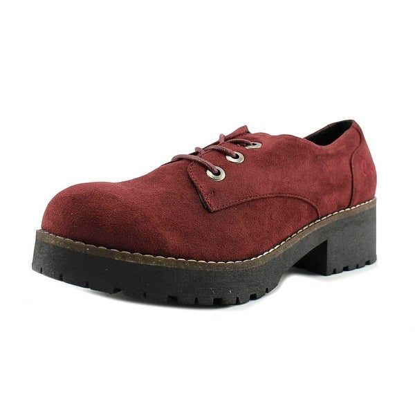 Coolway Cherblu Women Round Toe Suede Oxford