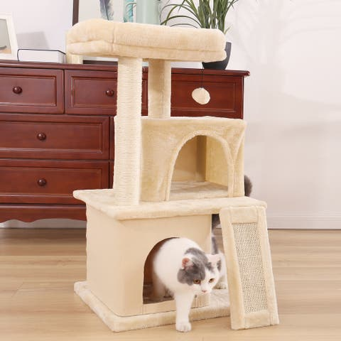 Cat Tower for Indoor Cats, Multi-Level Cat Condo with Scratching Posts