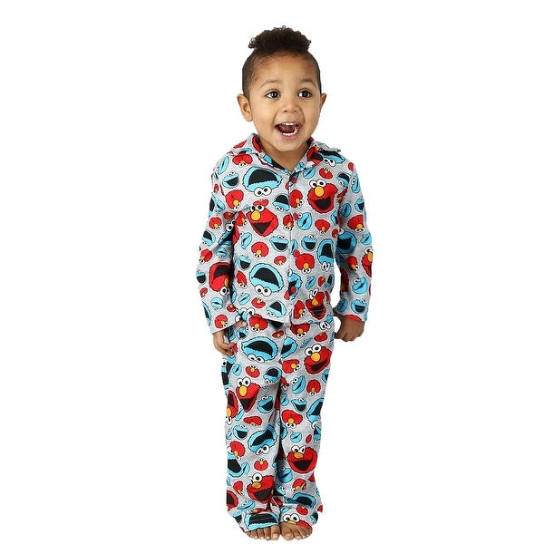 Toddler Boy/'s SESAME STREET Green ELMO 3T 4T 5T Holiday ROBE Pajama Cover PJS