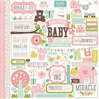 "Bundle Of Joy Girl Cardstock Stickers 12""X12""-Element"
