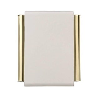 Carlon DH504 Gold Plate Door Chime Tube, White Cover