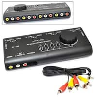 4 in. 1 AV Audio Video Signal Switcher S-Video Selector with RCA