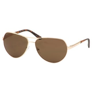 Perry Ellis Mens Metal Aviator Sunglasses Gold PE73-1, Includes Perry Ellis Pouch, 100% UV Protection