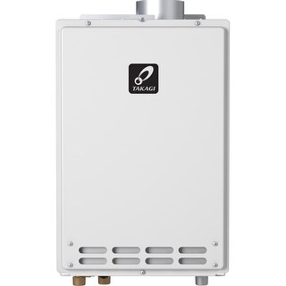 Takagi T-K4-IN-NG 8.0 GPM Natural Gas Indoor Tankless Water Heater from the Tankless Collection - White - N/A