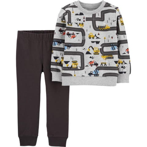 Carters Boys 2T-4T Roadway Jogger Set - Charcoal