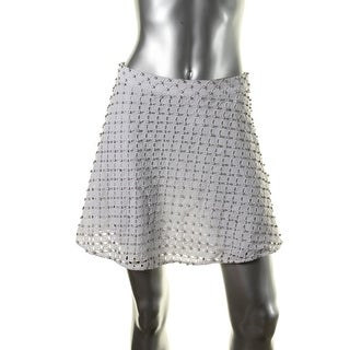 MICHAEL Michael Kors Womens Eyelet Jeweled A-Line Skirt