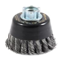 """Forney 72866 Industrial Pro Twisted Knotted Wire Cup Brush, 3"""" x .020"""""""