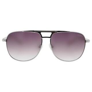 Guess Womens Contrast Trim Gradient Aviator Sunglasses