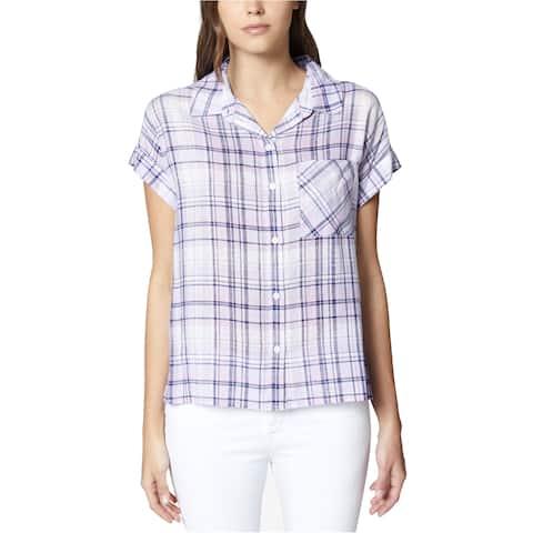 Sanctuary Clothing Womens Plaid Button Up Shirt