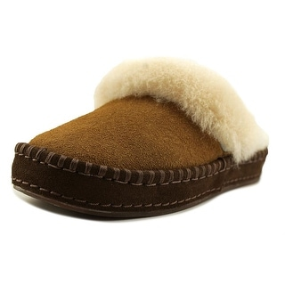 UGG Oaken Youth Round Toe Synthetic Tan Slipper