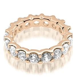 5.25 cttw. 14K Rose Gold Stylish U-Prong Round Cut Diamond Eternity Band Ring