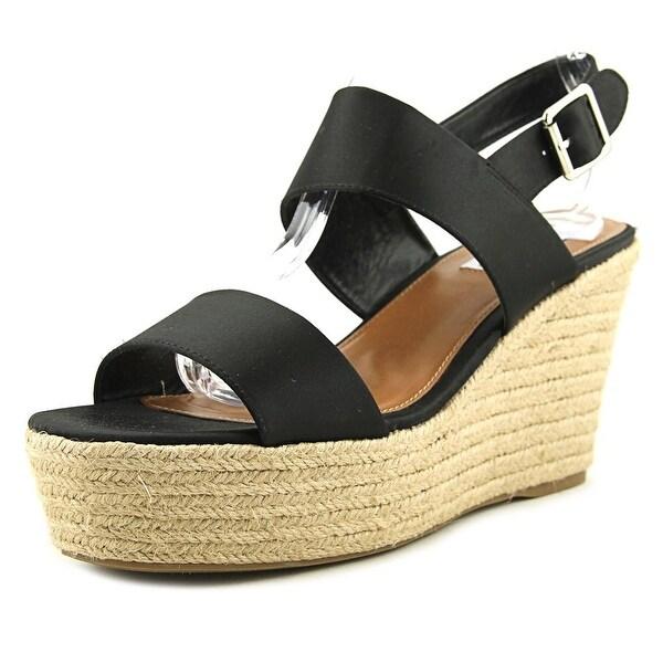 Steve Madden Marian Women Open Toe Synthetic Black Wedge Sandal