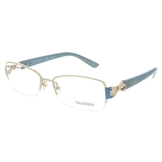 Valentino V2106 001 Light Gold/Sea Foam Rectangular Valentino Eyewear