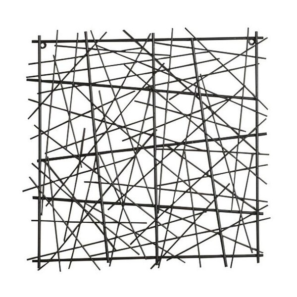 Shop Cheungs 5053s 4 5 Lbs Black Square Abstract Wall Art