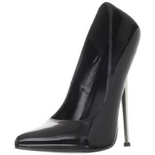 Devious Womens Dagger Patent Pointed Toe Pumps - 11 medium (b,m)