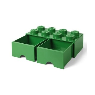 Lego Storage Brick 2 Drawer Dark Green - Multi
