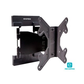 Monoprice Essentials Full-Motion TV Wall Mount Bracket (Max 66 lbs, 23~42in)