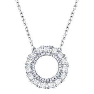 Prism Jewel 0.70Ct G-H/SI1 & I1 Natural Diamond Open Circle Necklace