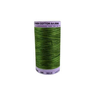 9085 9818 Mettler Silk Fin Cotton 50 500yd Multi Ferns