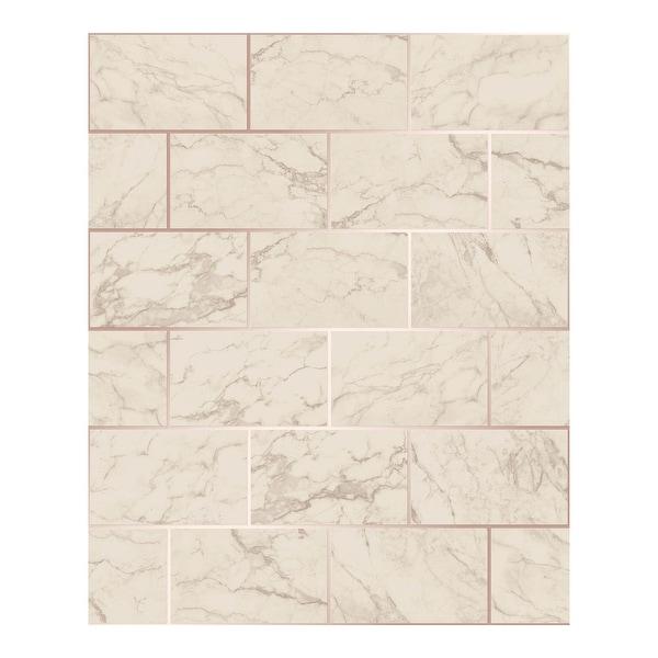 Mirren Beige Marble Subway Tile Wallpaper - 20.5 x 396 x 0.025. Opens flyout.