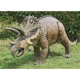 Design Toscano Jurassic-Sized Triceratops Dinosaur Statue