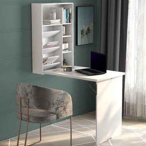 Wall Mount Desk Floating desk-Convertible-Fold-Out