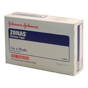 "Zonas Athletic Tape Porous Size: 1"" x 10 yd., Unit: 12"