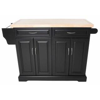 Zenvida Kitchen Island Cart With Wood Top