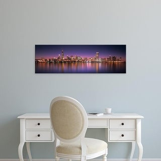 Easy Art Prints Panoramic Image 'skyscrapers, Lake Michigan, Digital Composite, Chicago, Illinois' Canvas Art