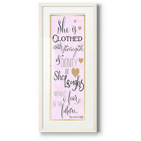 Clothed with Strength and Dignity-Premium Gallery Framed Print