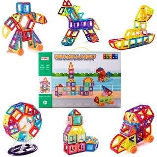 184 Pcs Magical Tiles Set Building Block Preschool Educational Construction Toy - as pic