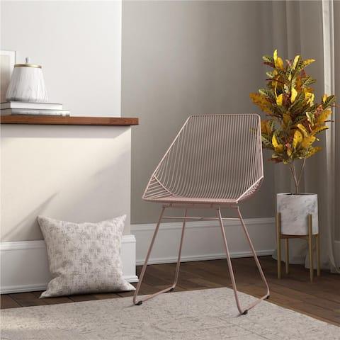 CosmoLiving by Cosmopolitan Ellis Modern Metal Accent Chair
