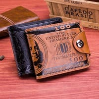 Flying Birds Men Wallet Short Leather Wallets