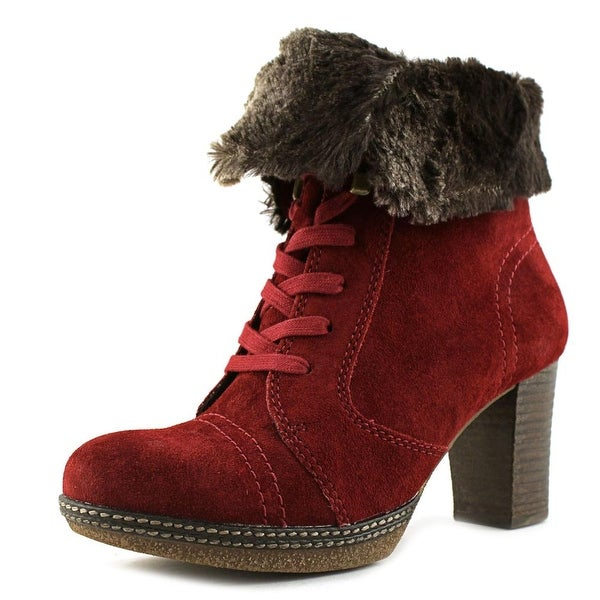 Gabor Lace Up W Round Toe Canvas Ankle Boot