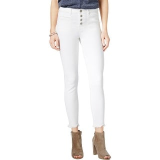 William Rast Womens Juniors Ankle Jeans High Rise White Wash - 25