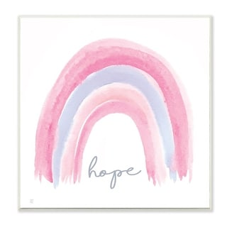 Link to Stupell Industries Hope Phrase Watercolor Rainbow Pink Purple Wood Wall Art Similar Items in Wood Wall Art