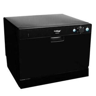 Koldfront PDW60E 22 Inch Wide 6 Place Setting Countertop Dishwasher with High Heat Dishwashing