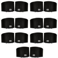 Acoustic Audio AA321B Indoor Mount Black Speakers 2800W 7 Pair Pack AA321B-7Pr