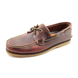 Timberland Classic Boat 2‑Eye Men  Moc Toe Leather Brown Boat Shoe
