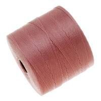 BeadSmith Super-Lon (S-Lon) Micro Macrame Twisted Nylon Cord - Rose Pink / 287 Yard Spool