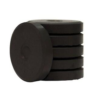 Jack Richeson Mini Tempera Cake, 1-5/8 x 5/16 Inches, Black, Pack of 6