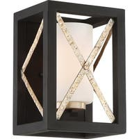 """Nuvo Lighting 60/6131 Boxer Single Light 10"""" Tall Wall Sconce with Frosted Glass"""