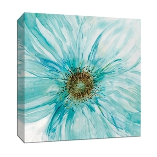 """PTM Images 9-147765  PTM Canvas Collection 12"""" x 12"""" - """"Bold Blue I"""" Giclee Flowers Art Print on Canvas"""